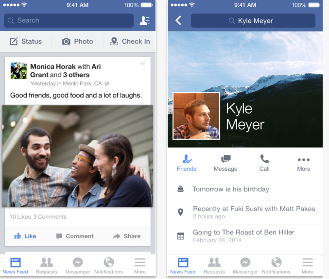 Facebook está disponible para iPhone