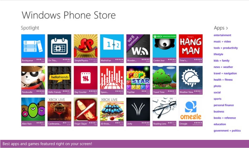 Existe o no Google Play Store para Windows Phone