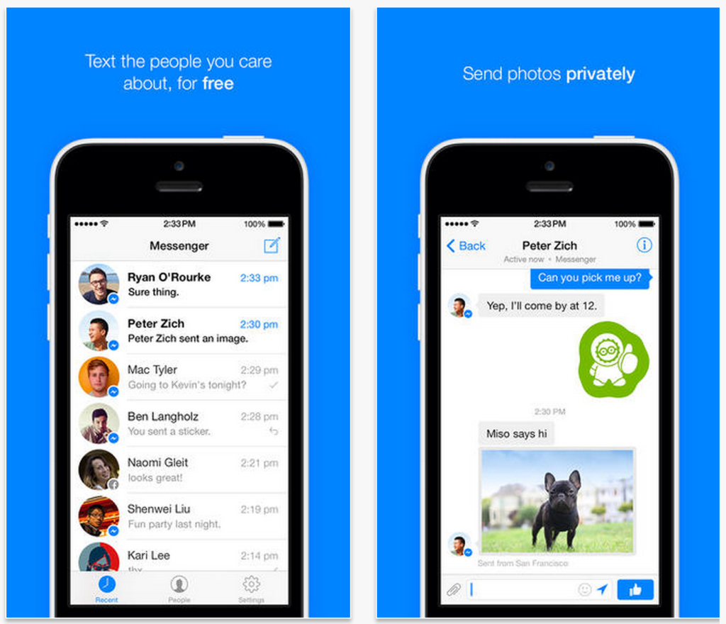 Facebook Messenger para iPhone