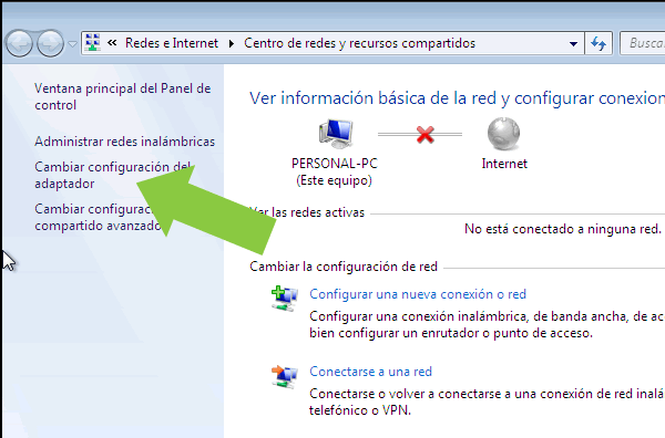 Manera de activar Wifi en Windows 10