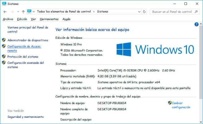 Sé cómo habilitar escritorio remoto en Windows 10