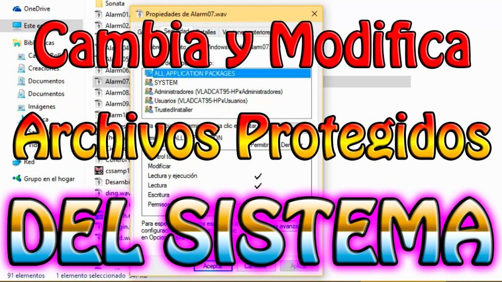 Consigue modificar los permisos Trustedinstaller en Windows 10